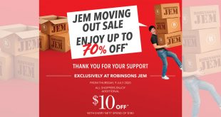 Robinsons Jem Moving Out Sale - Up to 70% OFF