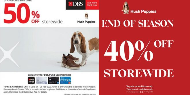 Hush Puppies End of Season Sale, updated on 25 Feb 2020