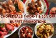 Best buffet promos at ChopeDeals