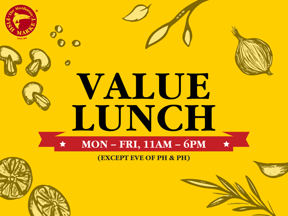 $14.90 Value Lunch at The Manhattan Fish Market
