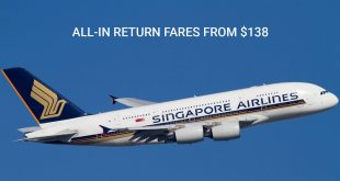All-in special fares from $138 with SingAir
