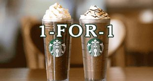 Starbucks 1-for-1 frap