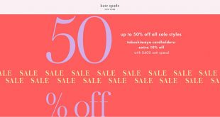 Kate Spade up to 50% off all sale styles at Takashimaya