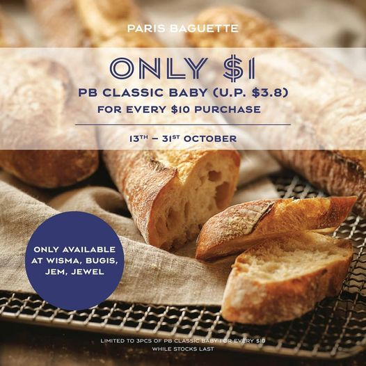 Classic Baguette Baby at $1 13 Oct 2020