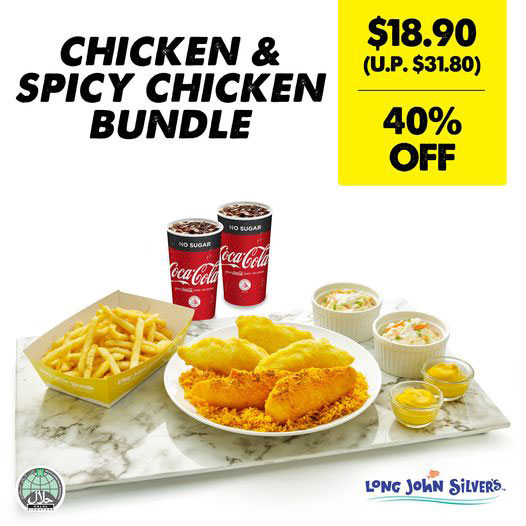 40% OFF Chicken & Spicy Chicken Bundle