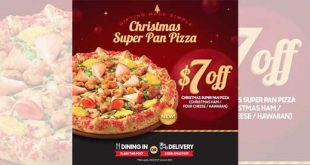 Pizza Hut Promotion - S$7 OFF Christmas Super Pan Pizza