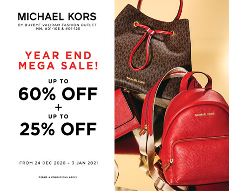 Michael Kors Year End Mega Sale! Storewide Up to 60% + Up to 25% Off!